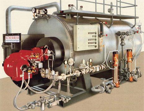 SCHERRER Industrieheizanlagen - Dampfkessel